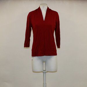 Talbots 3/4 Sleeve Red Top